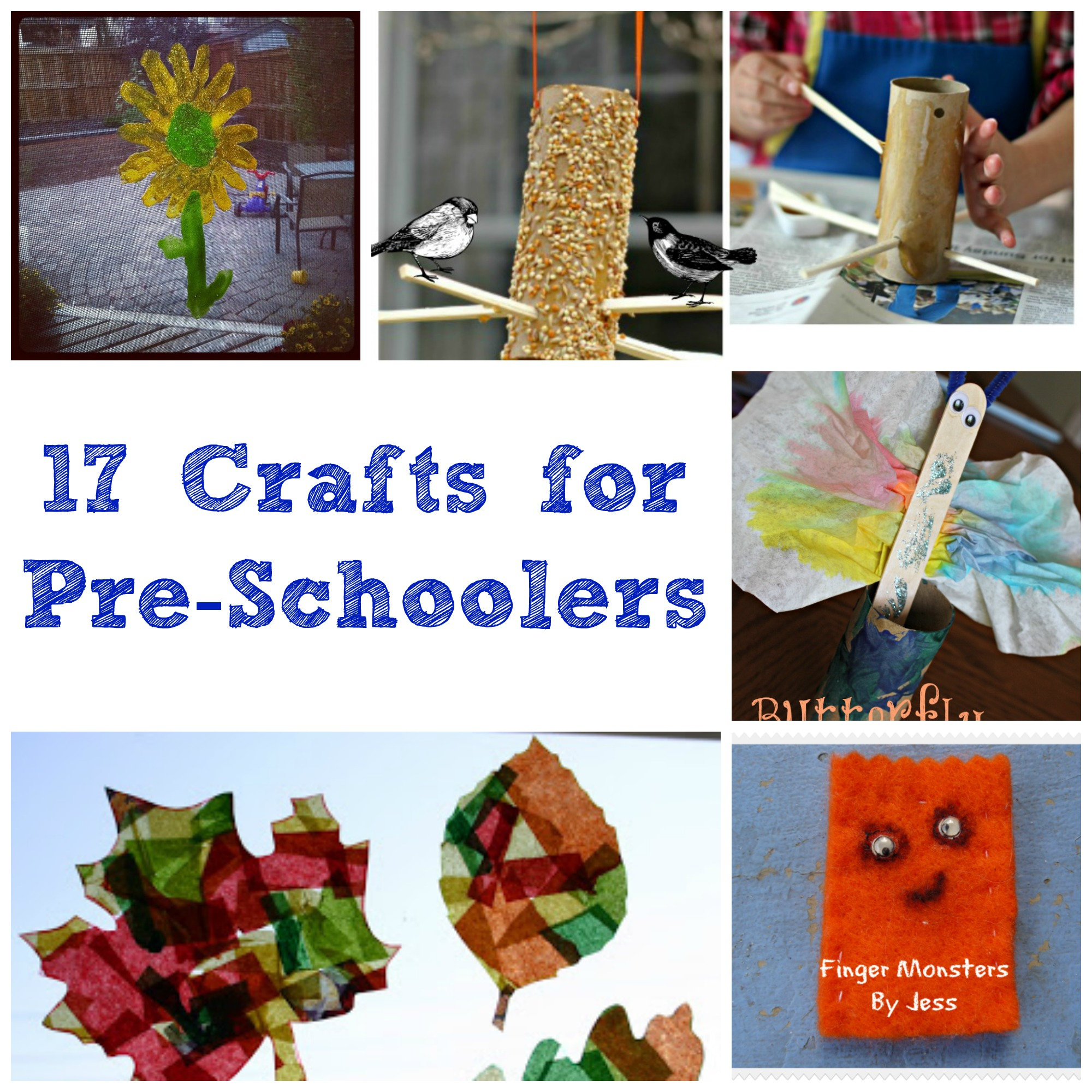 17 Crafts for Pre-Schoolers