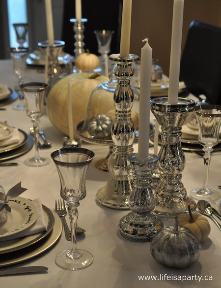 Silver Thankgiving Table
