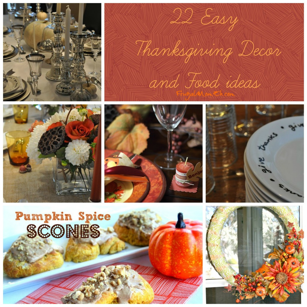 Thanksgiving Decor and recipes