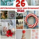 26 DIY Christmas decor and ornaments - tons of crafts from a gift wreath to table top Christmas trees!