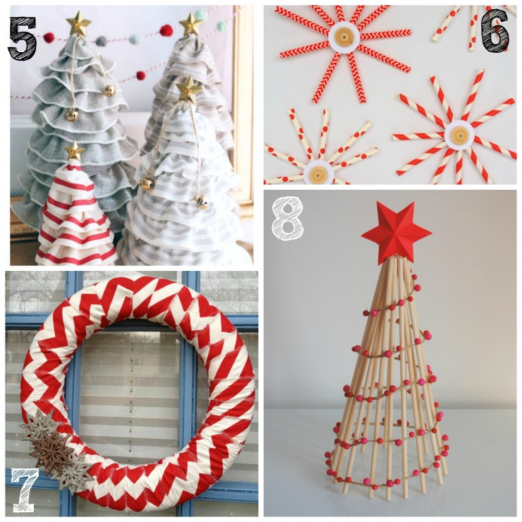 26 diy christmas decor and ornament ideas life love liz for Home made christmas tree decorations