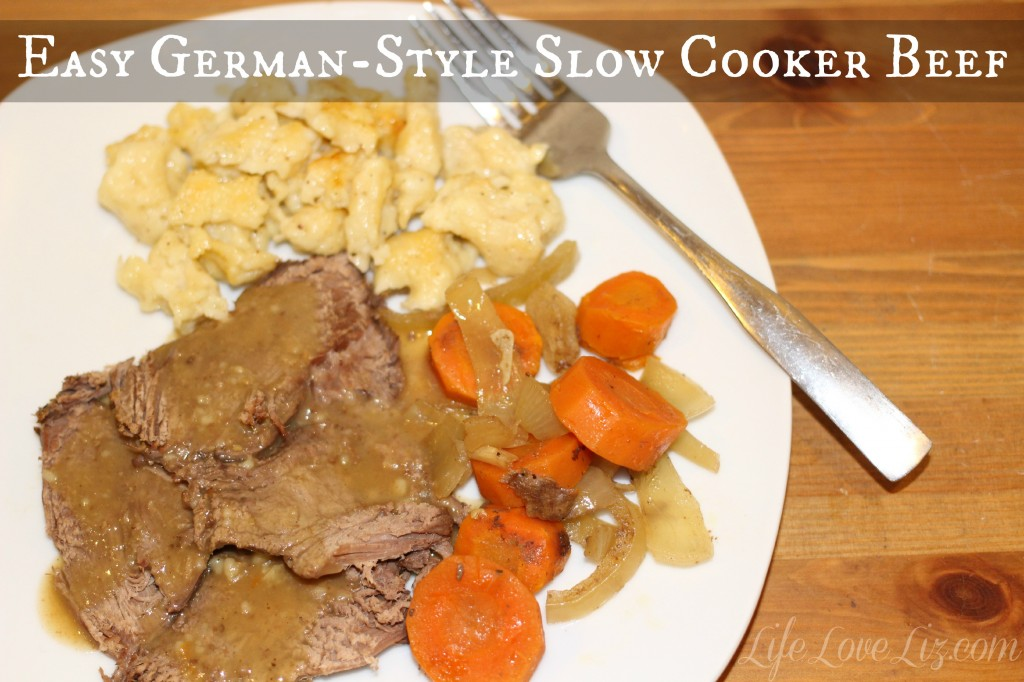 Easy German-Style Slow Cooker Beef