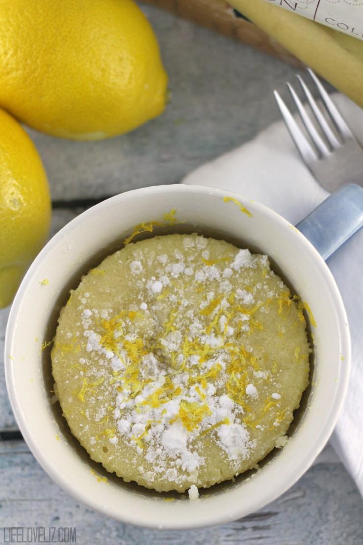 Lemon Mug Cake Recipe Life Love Liz