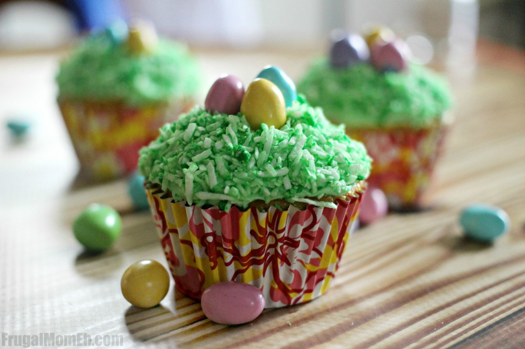 Lemon Coconut Easter Cupcakes