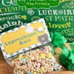 Leprechaun Bait Free Printable Bag Topper.  Perfect for kids St. Patricks Day!