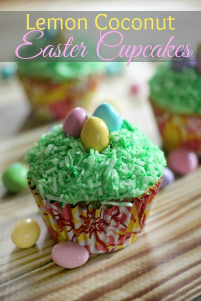 Lemon Coconut Easter Cupcakes
