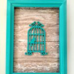 DIY Custom Framed Art is a fun craft project that will really add to your home decor. You can customize it go with your current colour scheme and decor with ease!