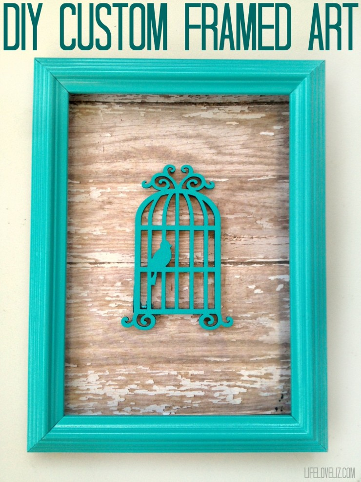 Diy custom framed art life love liz diy custom framed art is a fun craft project that will really add to your home solutioingenieria