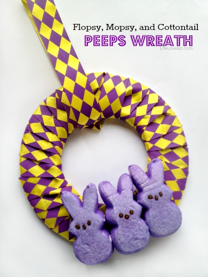 DIY Flopsy, Mopsy, and Cottontail Peeps Wreath perfect for Easter Home Decor!