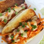 Thai Inspired Hot Dogs are an easy and gourmet lunch idea everyone will love!