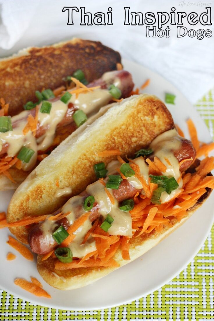 Thai Inspired Hot Dogs