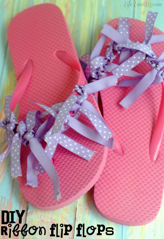 7ad58290d9e6aa DIY Ribbon Flip Flops - Life Love Liz