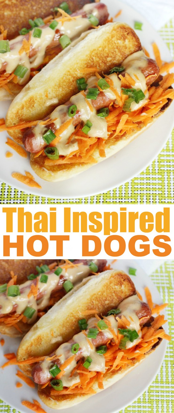Thai Inspired Hot Dogs are an easy and gourmet hot dog lunch idea everyone will love!