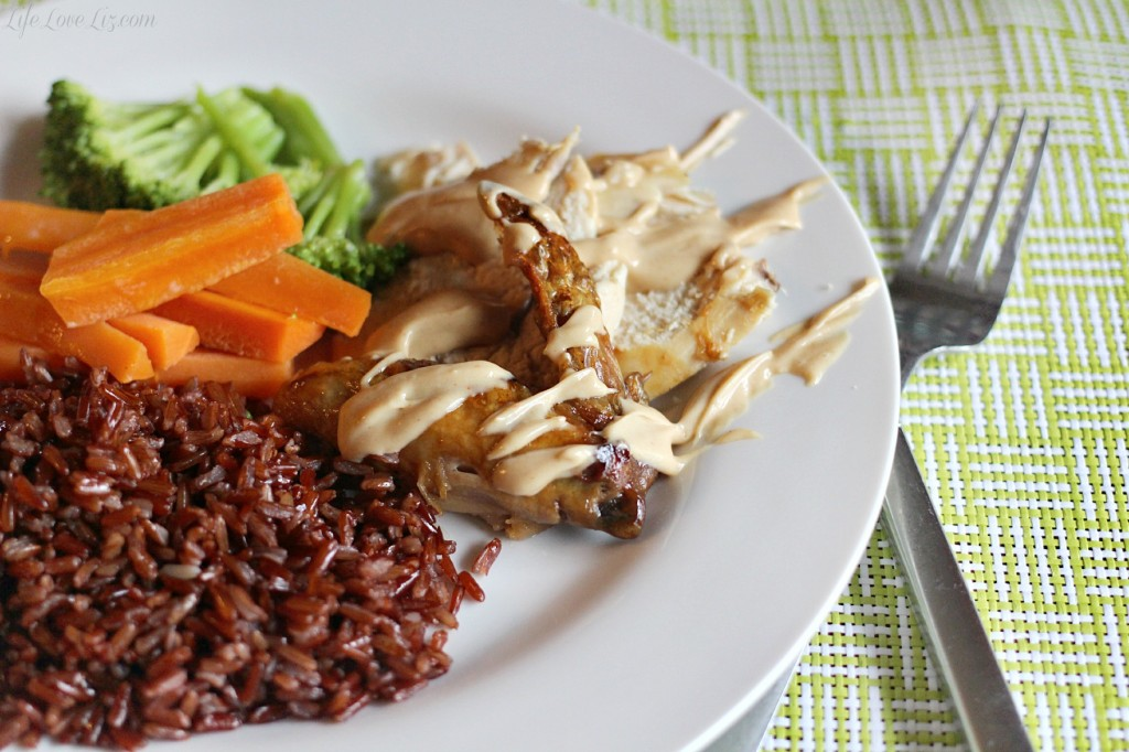 Roasted Chicken with Peanut Sauce