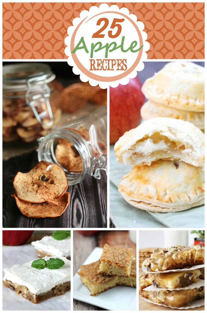 25 Apple Recipes so you can get in your kitchen and start whipping up some delicious autumn recipes.