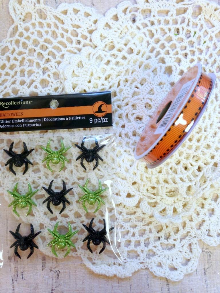 Doilie Spider Web Banner