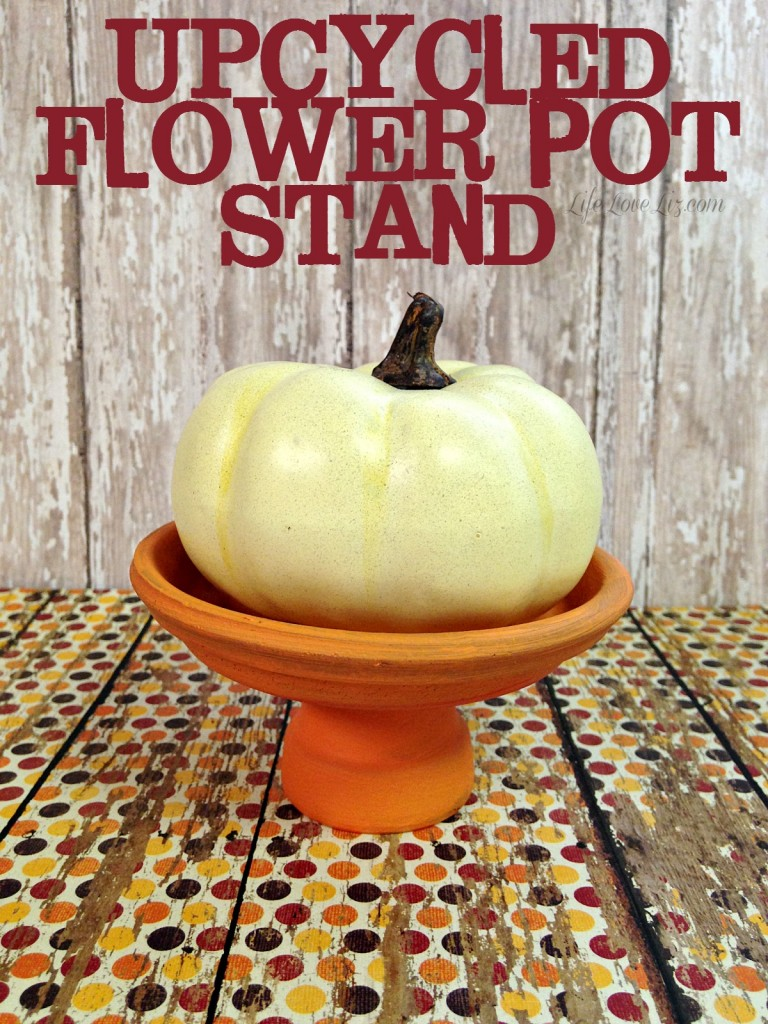 Upcycled Flower Pot Stand is an easy and useful diy addition to your decor.