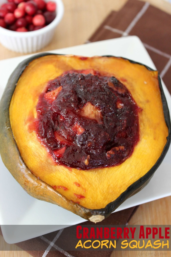 Cranberry Apple Acorn Squash is a perfect side dish for your thanksgiving or fall dinner.