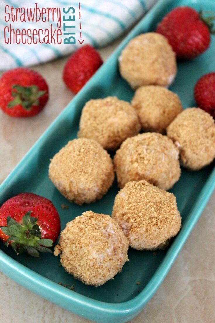 Strawberry Cheesecake Bites