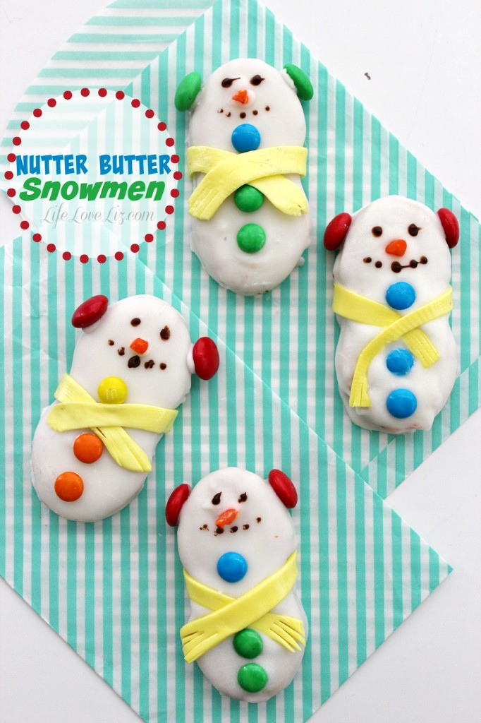 These Cute Little Nutter Butter Snowmen will be a kids favourite from Christmas Cookie Plate and you will love how easy they are to pull off!