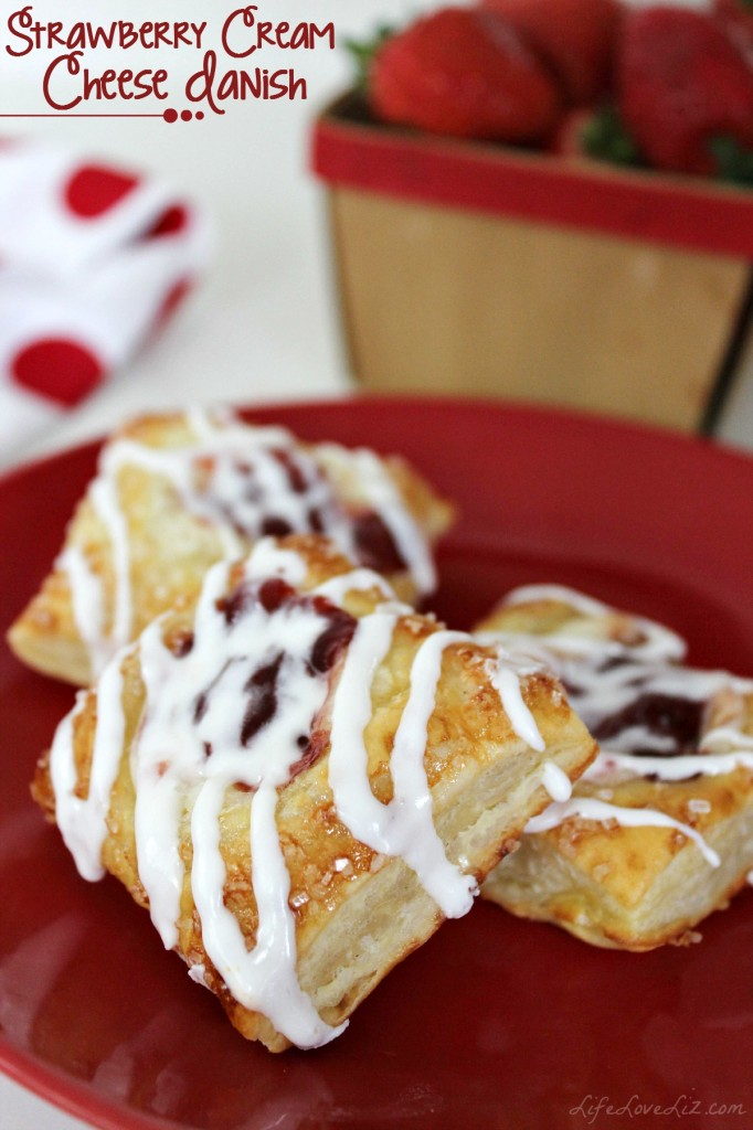 Strawberry Cream Cheese Danish are a tasty breakfast treat. This is one recipe you will definitely want to keep!