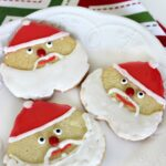 These Santa Sugar Cookies are deceoptively easy to put together and look fabulous on your Christmas Cookie Plate!
