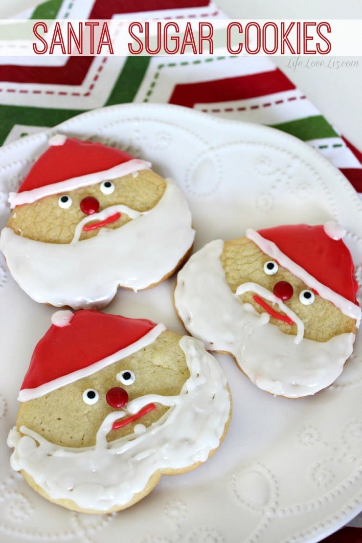 Santa Sugar Cookies Life Love Liz