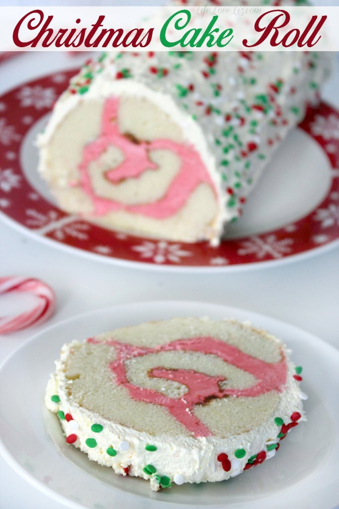 This Christmas Cake Roll is a festive dessert recipe perfect for your holiday dessert table!