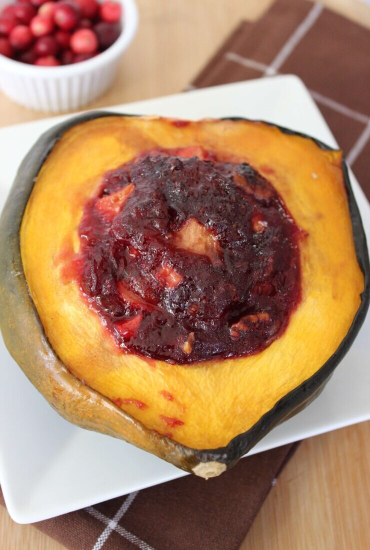 Cranberry Apple Acorn Squash