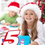 5 DIY Christmas Cards for kids. DIY kids Crafts are a great way to keep children busy during the holidays!