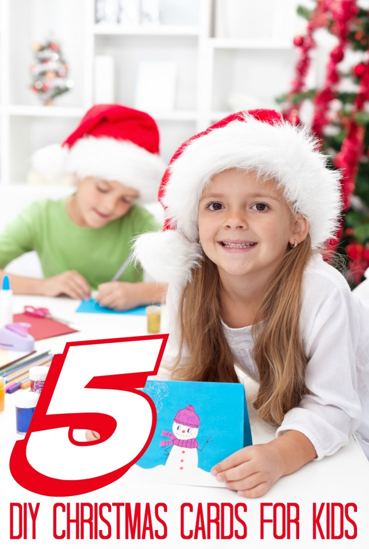 5 DIY Christmas Cards For Kids - Life Love Liz