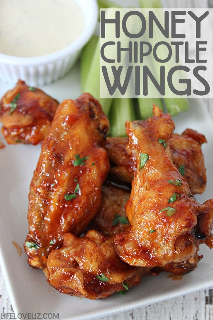 Honey Chipotle Chicken Wings are a delicious appetizer perfect for serving at any party!