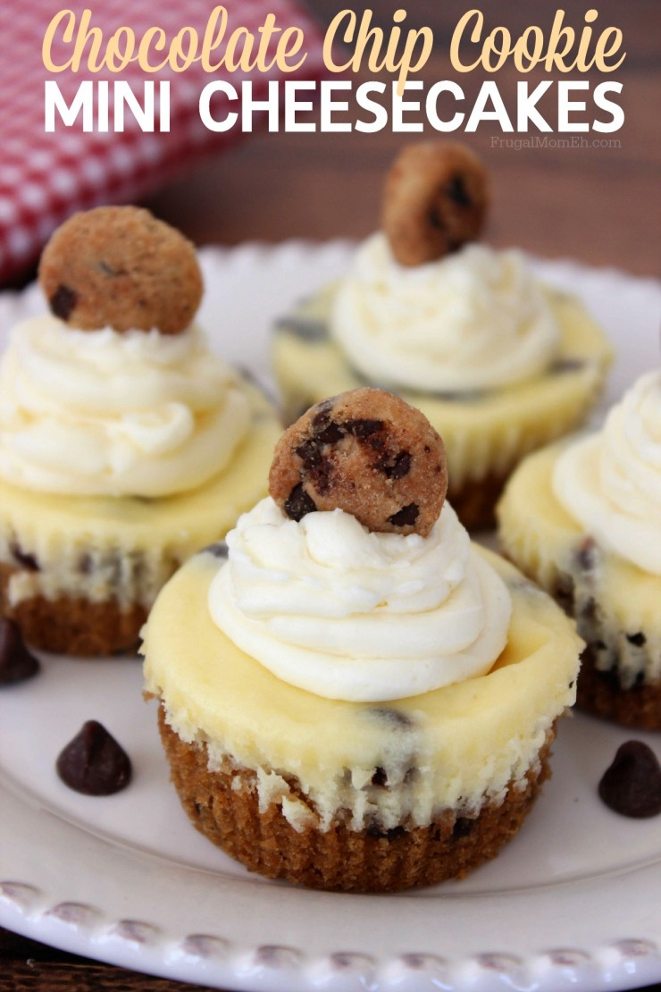 Chocolate Chip Cookie Mini Cheesecakes are a heavenly yet fun dessert ...