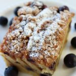 This Blueberry Pancake French Toast Bake is a unique mashup of your breakfast favourites. This isn