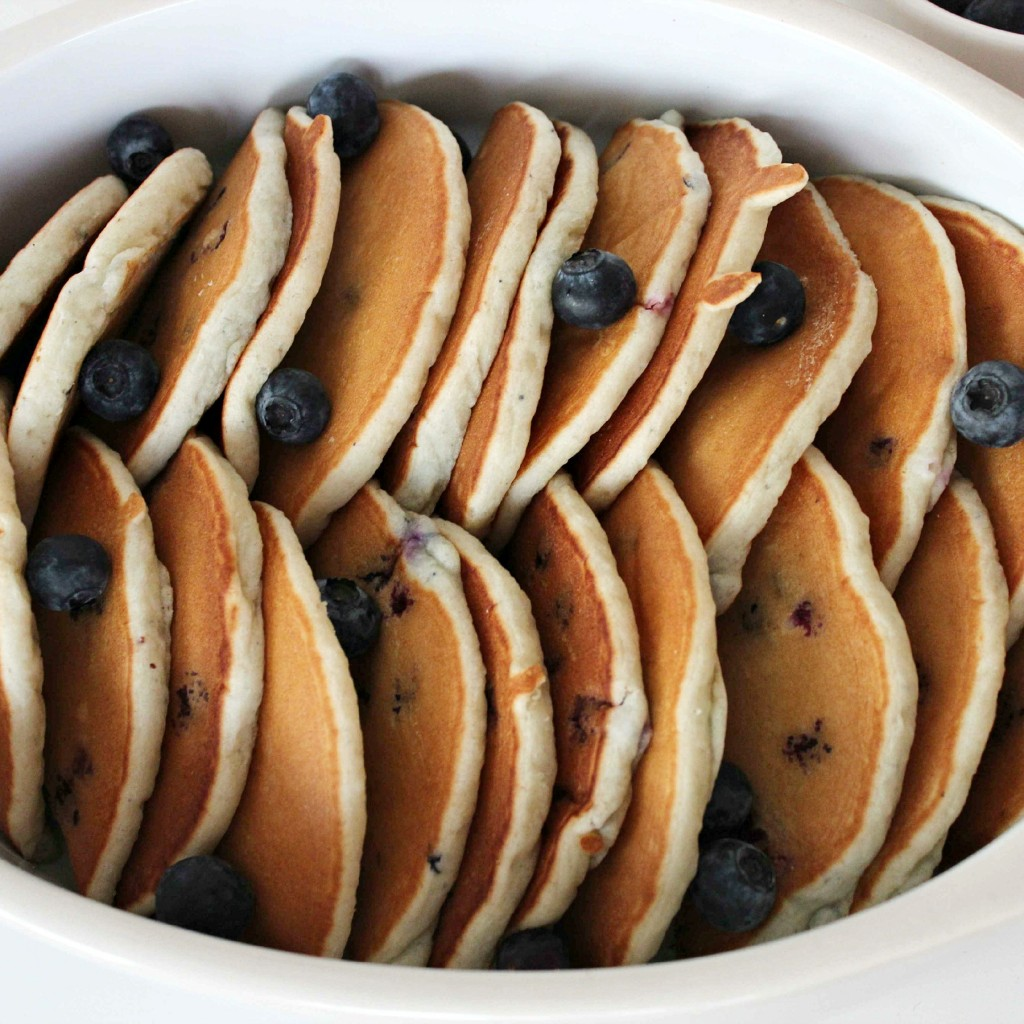 Blueberry Pancake French Toast Bake Prep