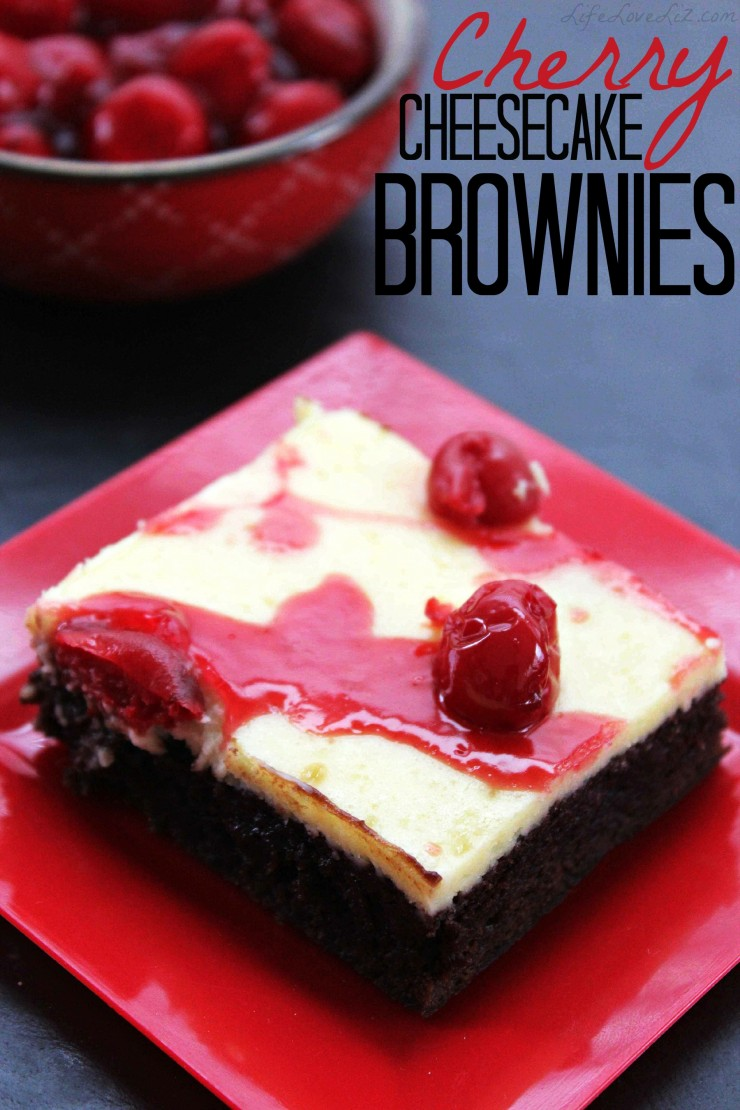 These Cherry Cheesecake Brownies look about as amazing as they taste.   This desert recipe is a sure keeper!
