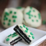 Chocolate Dipped Mint Oreos are an easy no-bake St. Patrick