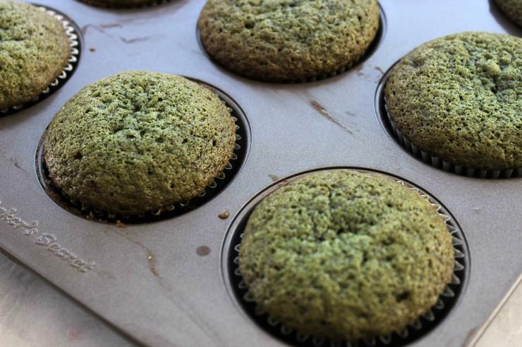 Green Velvet Cupcakes Process