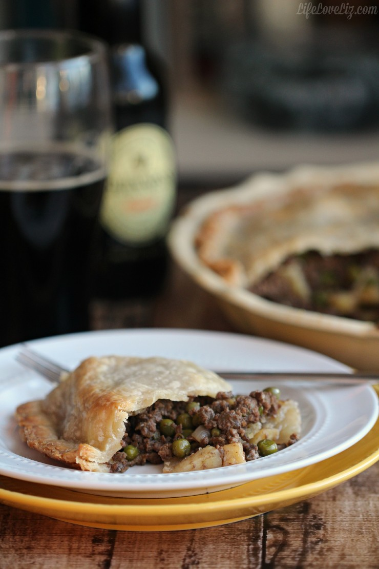 Beef and Guinness Pie is a simple and easy twist on a classic recipe, perfect for St. Patrick's Day Dinner!