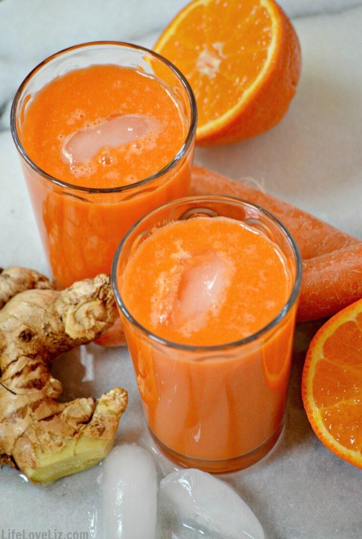 Carrot, Tangelo & Ginger Juice