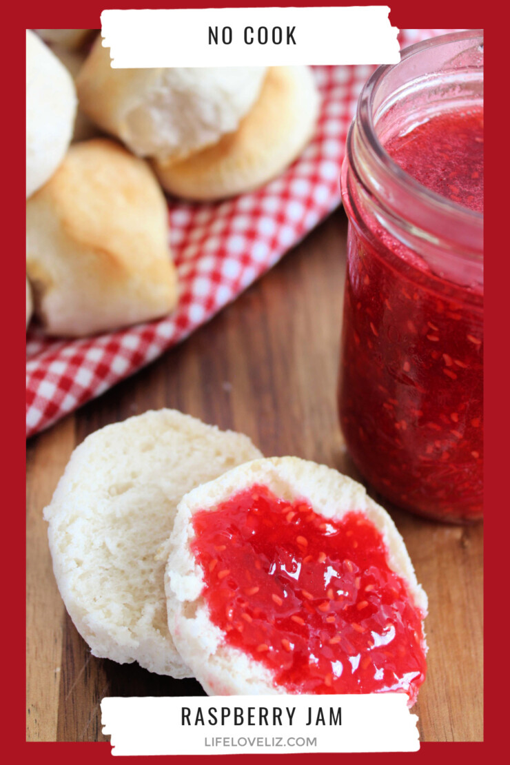 This No Cook Raspberry Freezer Jam is the perfect way to preserve those amazing summer berries when you are in a hurry.