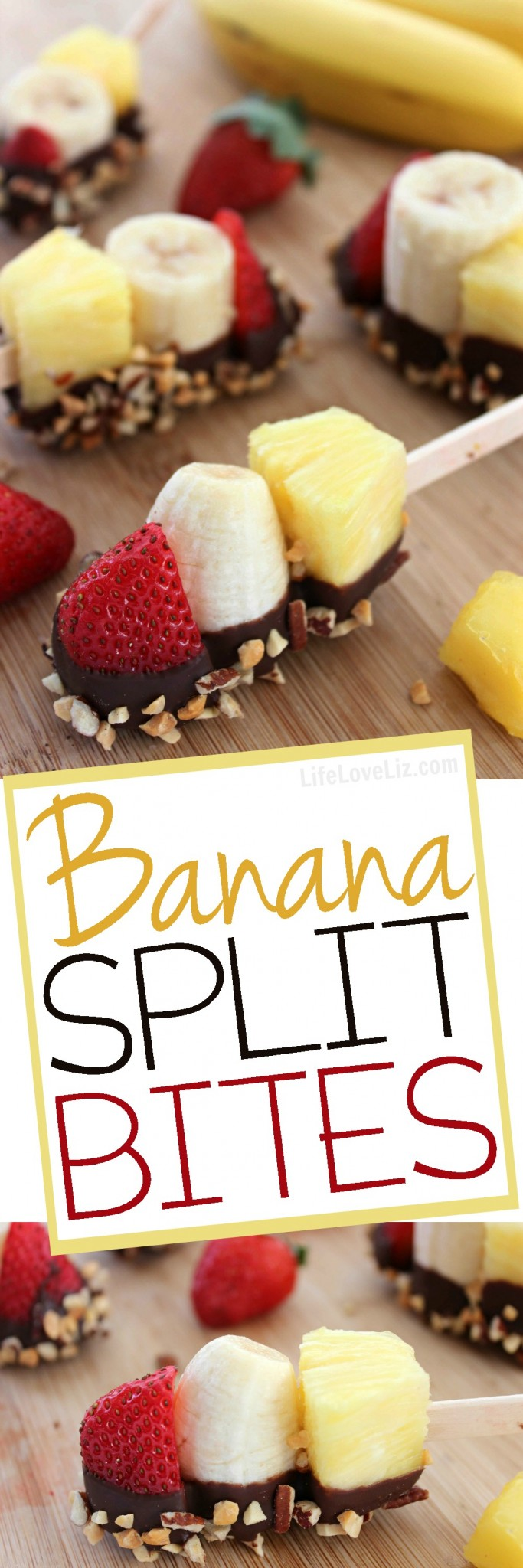 Mess-Free Banana Split Bites Recipe — Dishmaps