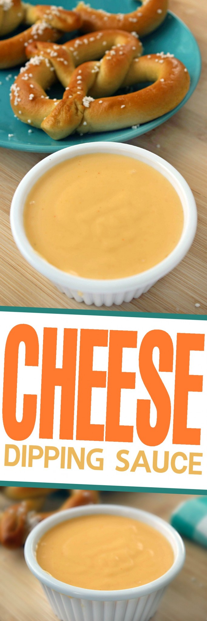 This is a Classic Cheese Dipping Sauce Recipe perfect for pairing with pretzels or nachos as an appetizer and works great over veggies like broccoli too!
