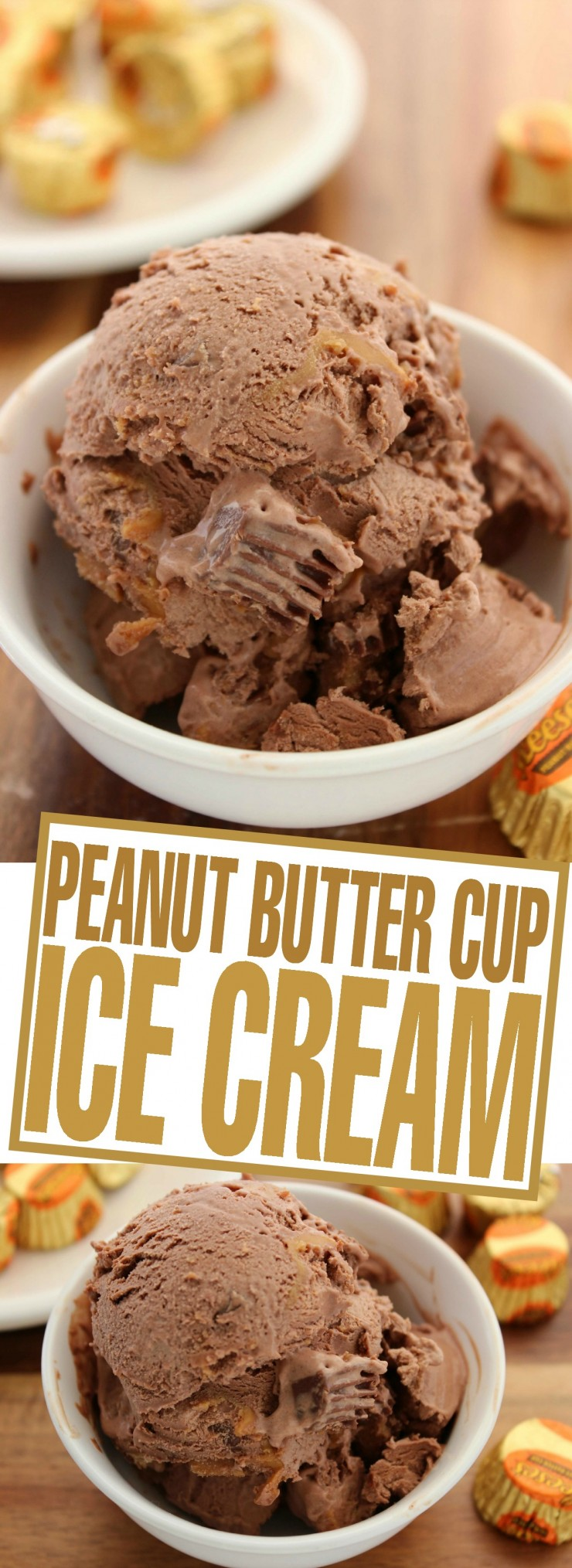 This Peanut Butter Cup Ice Cream is no-churn and deliciously decadent - a perfectly frozen summer dessert recipe.