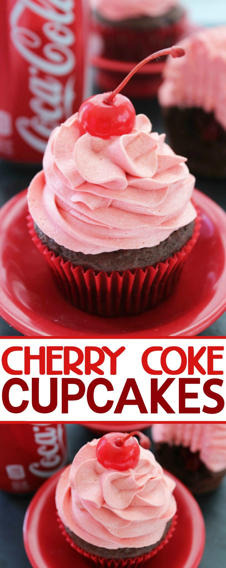 Capture all the flavours of Cherry Coke with these scrumptious Cherry Coke Cupcakes!