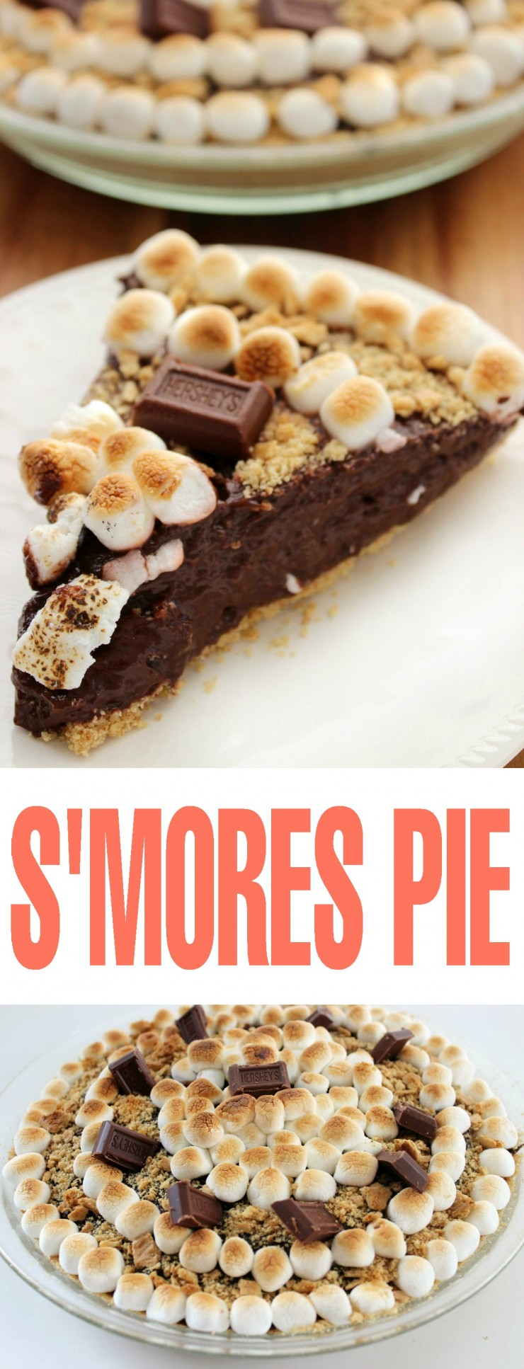 This No Bake S'Mores Pie is a fun twist on the summer camping dessert classic recipe.