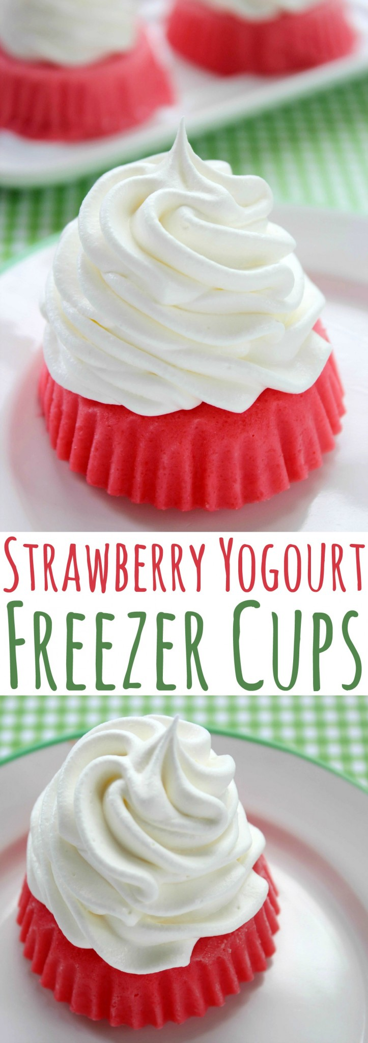 Cool down with this fun Strawberry Yogourt Freezer Cups recipe the whole family will enjoy!