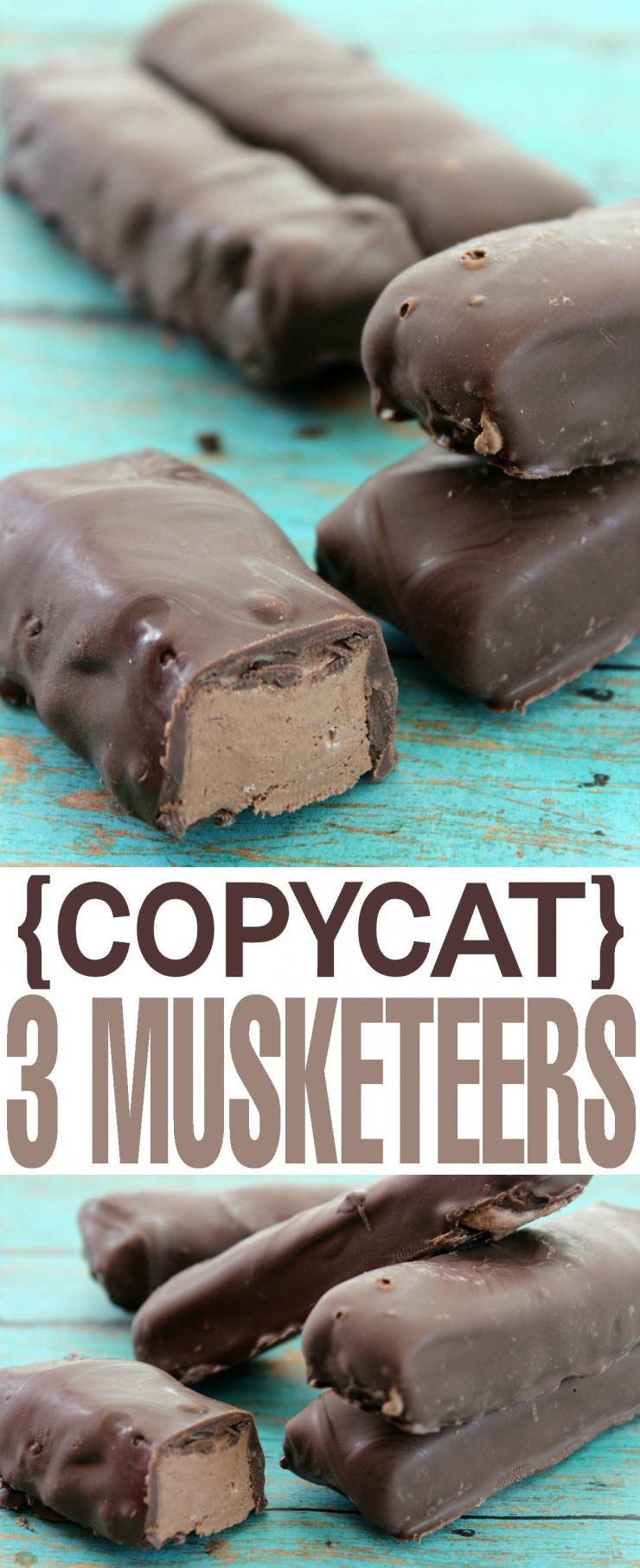 This copycat 3 musketeers recipe uses only 2 ingredients but tastes like the real thing!