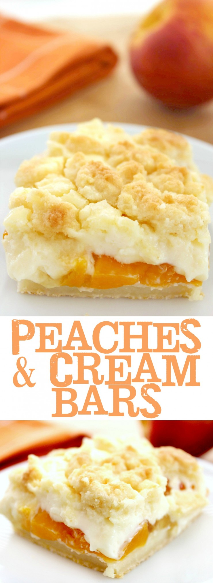 These Peaches and Cream Bars are a delectable summer dessert This recipe is so easy and full of flavour!