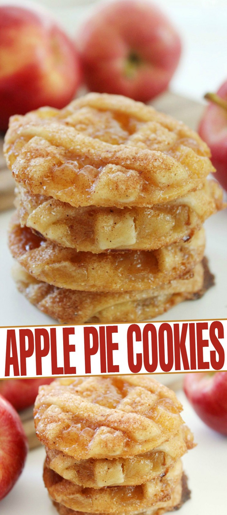 These apple pie cookies are a bite size dessert with all the flavour of apple pie!